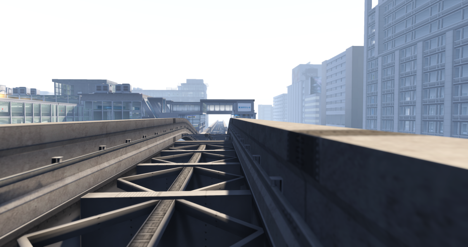 The elevated railway in Mopire City