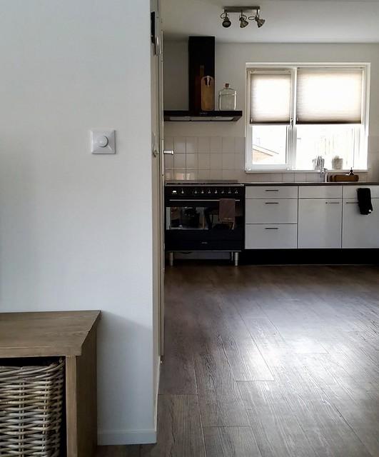 Keuken strak landelijk
