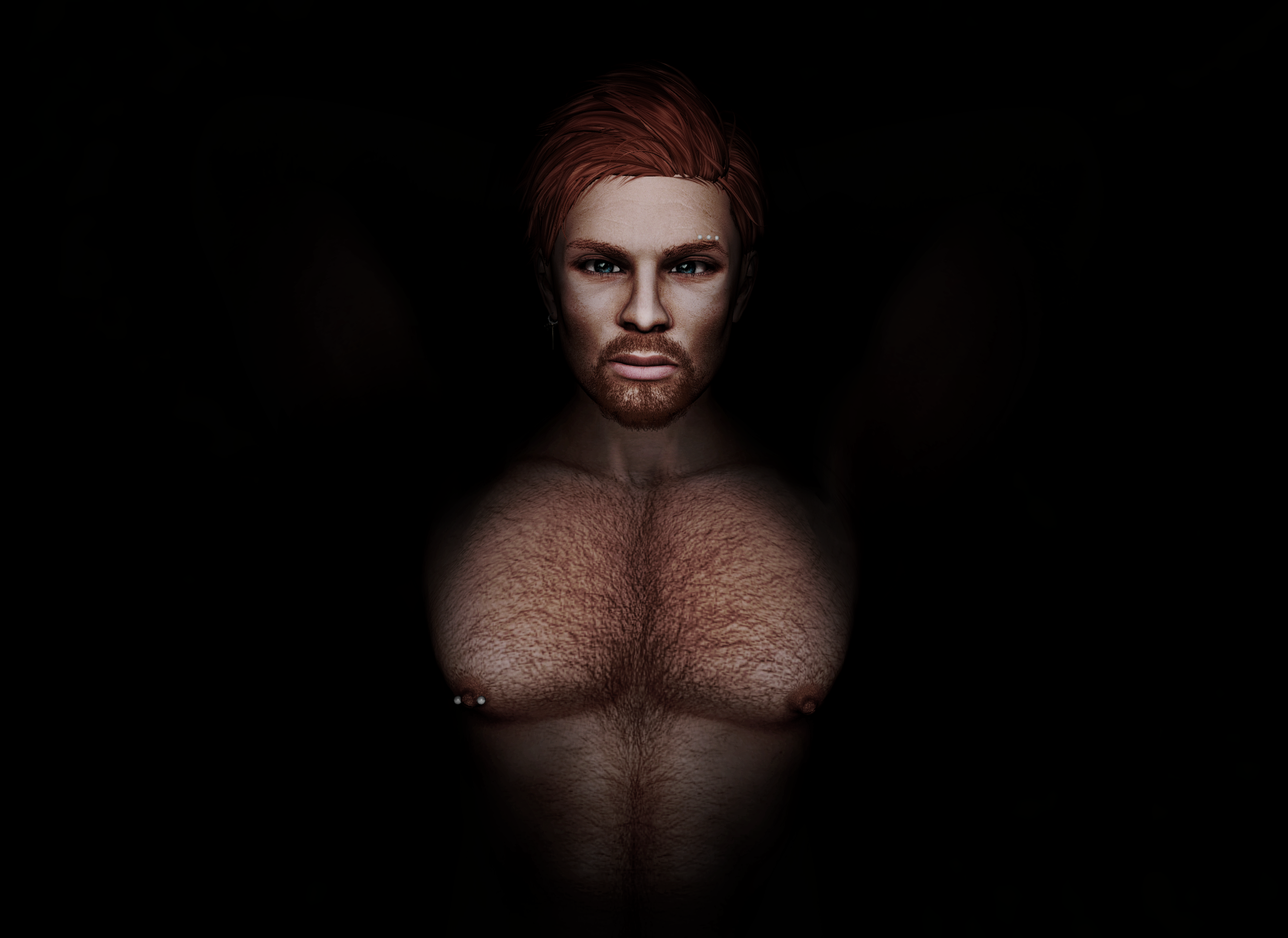 Study for some chiaroscuro effect 3: projected light in SL and some post-production work