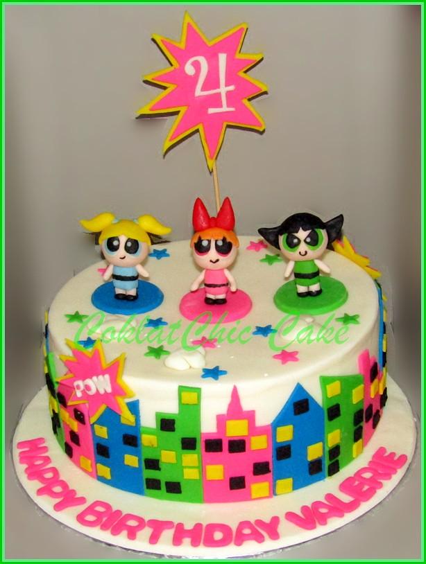 Cake Power Puff Girl VALERIE 20 cm