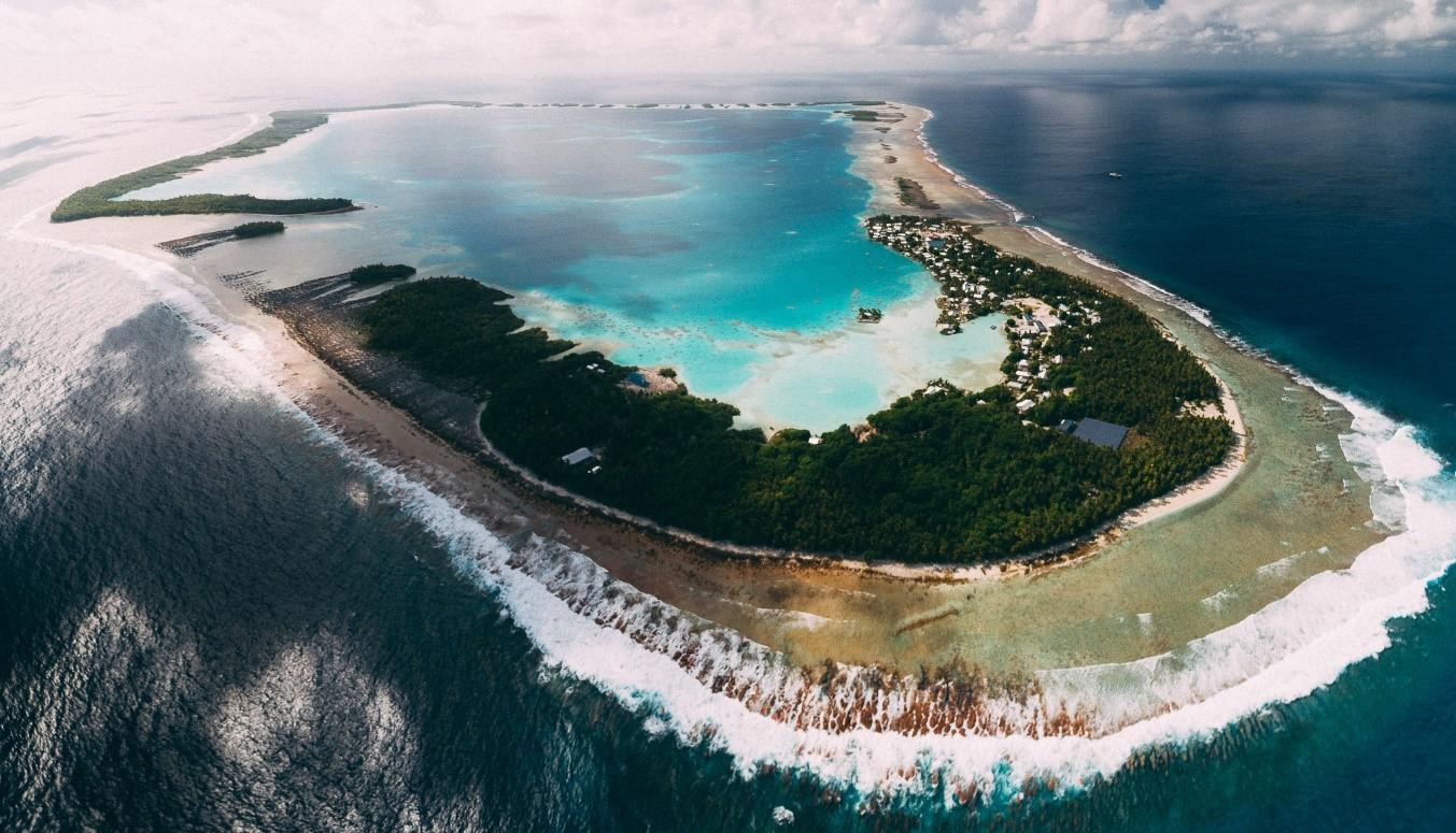 Aerial view of Atafu Atoll, Tokelau.