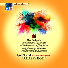 Wish you colorful Social Holi!