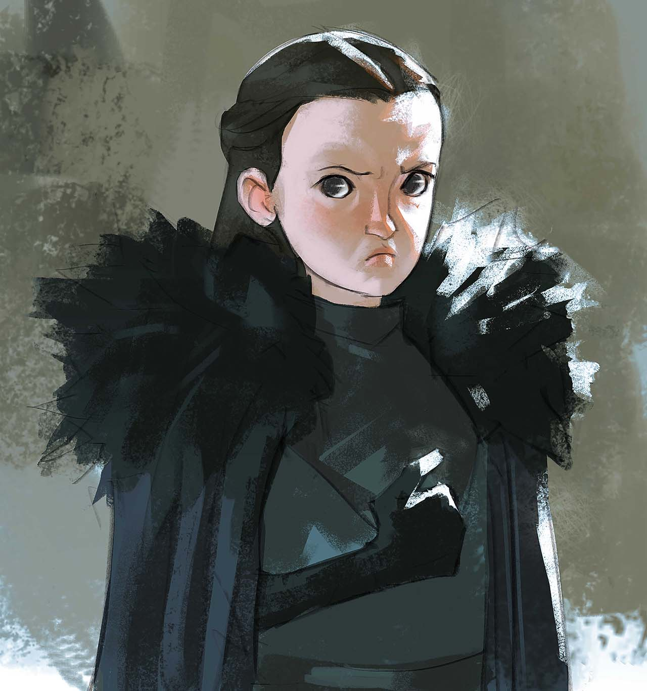 Artist Creates Unique Character Arts From Game Of Thrones – Lyanna Mormont Character Art By Ramón Nuñez