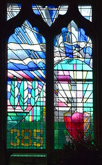 385 Bombardment Group memorial window (Surinder Warboys, 1995)