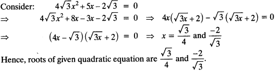 Quadratic Equations Chapter Wise Important Questions Class 10 Mathematics 82