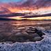 Burlington Sunset, Feb 2018 II by Dino Sokocevic