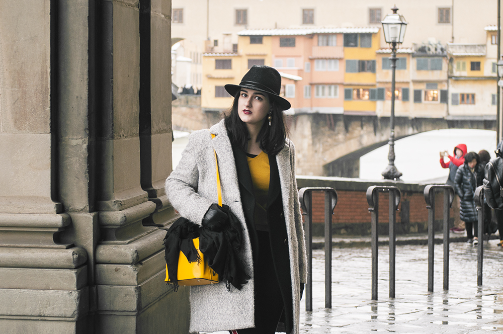 somethingfashion blogger firenze collaboration outfit casual mustard top jersey shein vest firenze snow pontevecchio_0704