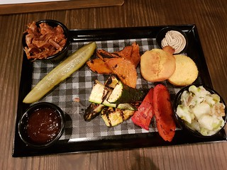 Meatless BBQ Plate with Potato Salad at Brewski