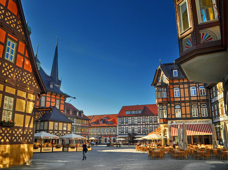 The market square in Wernigerode. Credit Klugschnacker