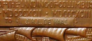 1893 Columbian Exhibition Award Medal reverseinsert closeup