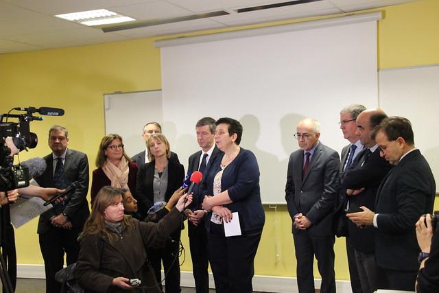 Déplacement la ministre Frédérique Vidal, ministre de l'Enseignement supérieur, de la Recherche et de l'Innovation à Bordeaux
