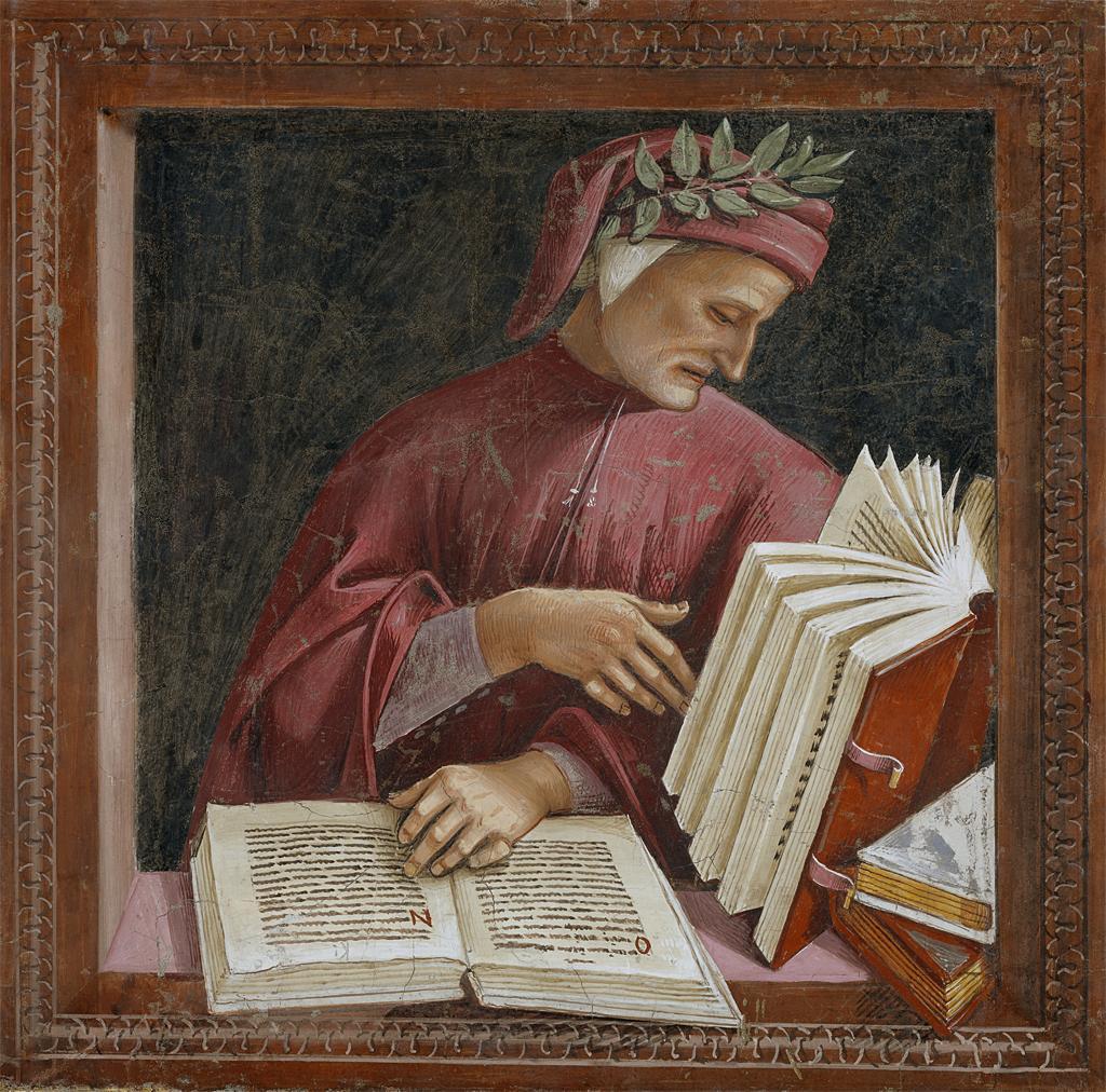 Dante Alighieri, detail from Luca Signorelli's fresco, Chapel of San Brizio, Orvieto Cathedral.