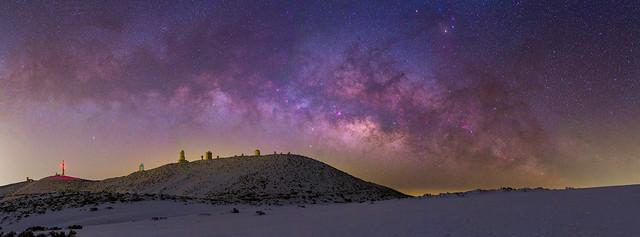 Panoramica Via Lactea Izaña Nevada 2018