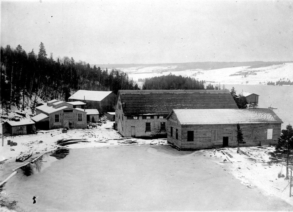 Alexander Graham Bell's laboratory overlooking Baddeck Bay, Nova Scotia.
