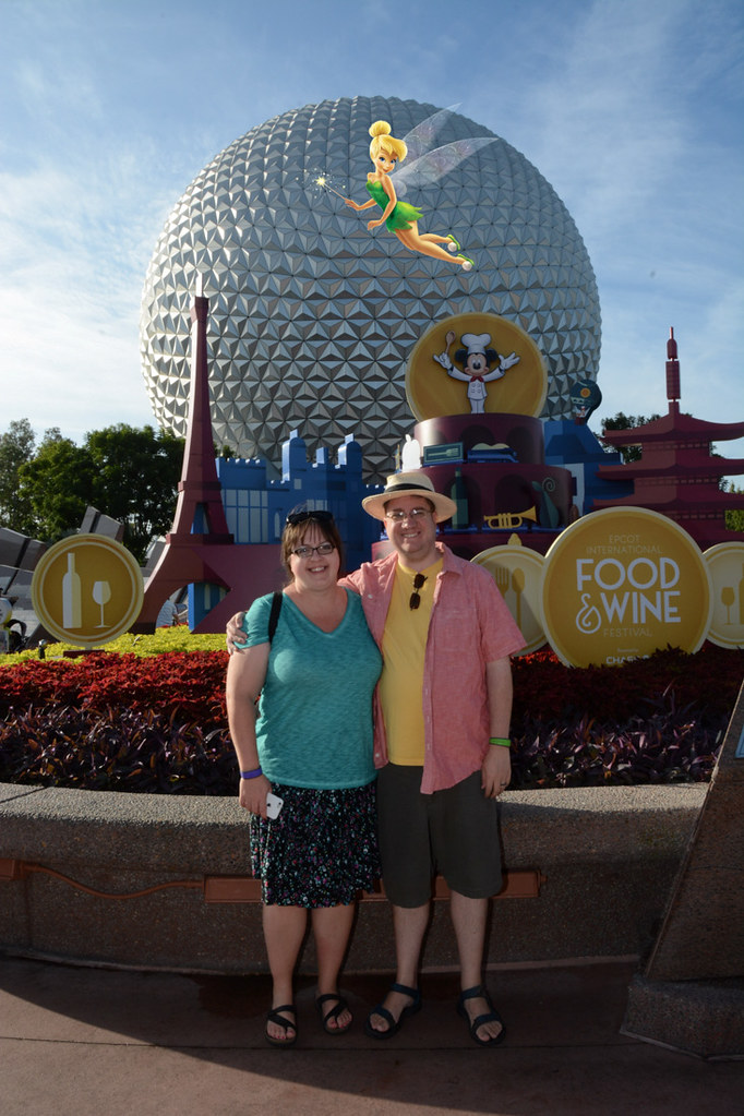 Ken and I at entrance to EPCOT