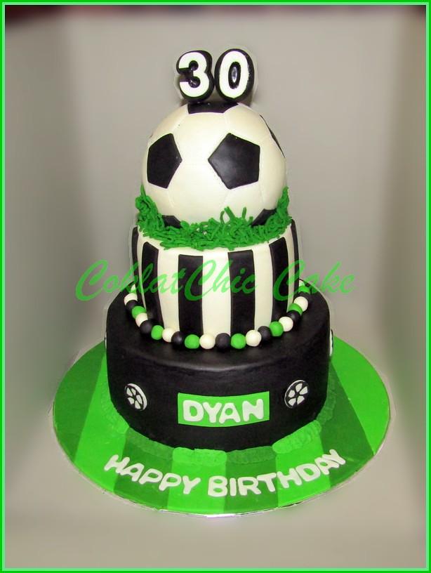 Cake soccer Ball DYAN 18 cm + 15 cm + bola 15 cm