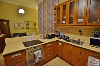 Friends Hostel Budapest Hungary (best hostel in Budapest) - second kitchen and social area