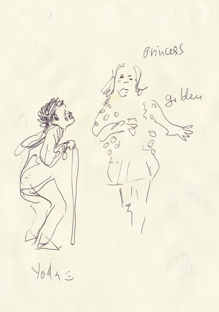 Sketchbook #111: Sketching during a school performance.