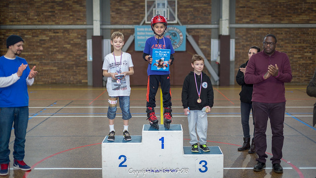 Podiums Compétition Roller Coupe IDF Skatecross Savigny-sur-Orge 11 février 2018