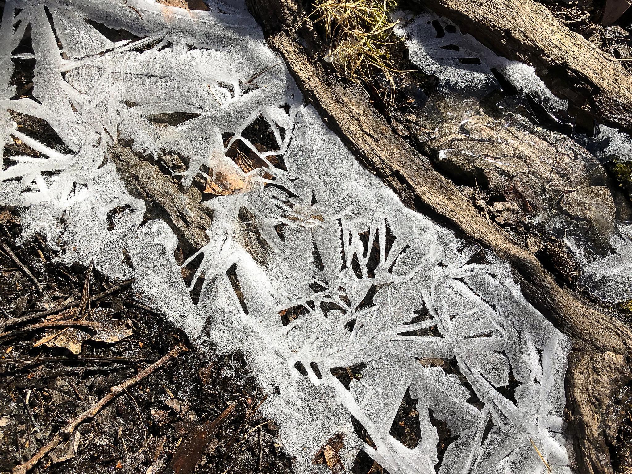 Ice in a rut