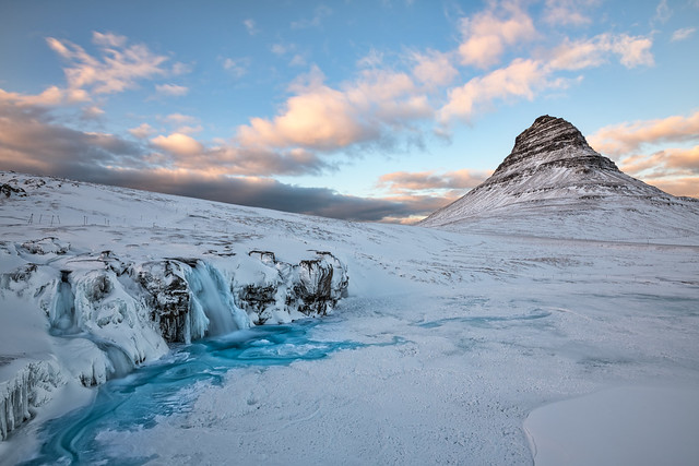 Kirkjufell Sunset in Winter