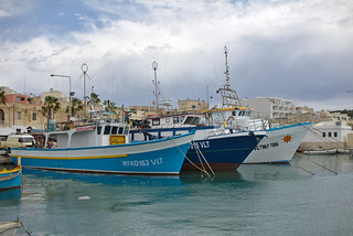 Schiffe im Hafen von Marsaxlokk