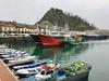Dando un paseo por el puerto de Getaria hoy a la mañana