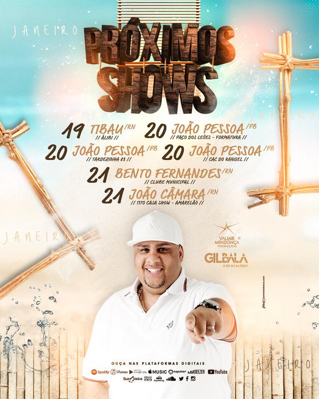 Agenda Semanal - Gil Bala - Jan. 2018 - Semana 03