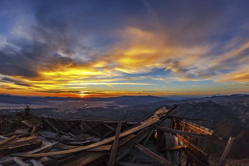 sunset loscoyotes indianreservation firelookout firelookouttower sky clouds loscoyotesindianreservation california landscape sandiego