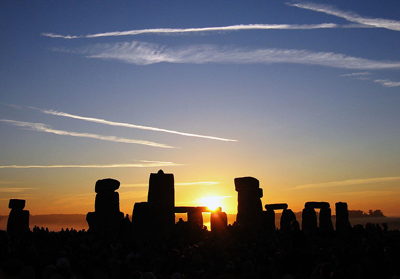 Summer Solstice Sunrise over Stonehenge in 2005