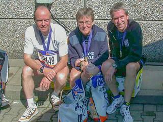 Gisela, Karl, Lothar im Ziel