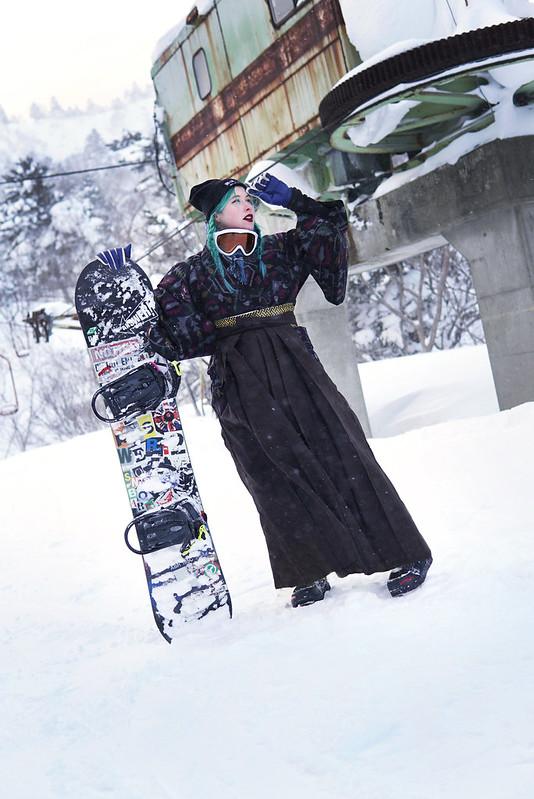 Hakama snowboarding 3