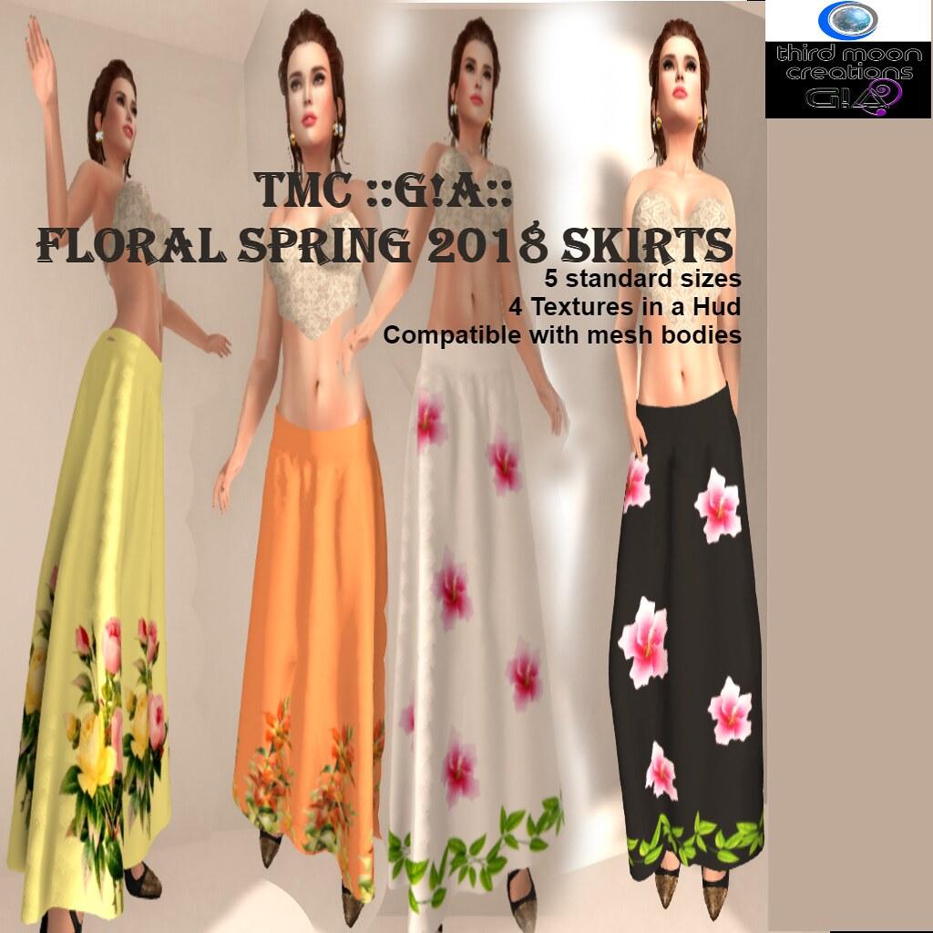 Floral Spring 2018 Skirt VendorHud - TeleportHub.com Live!