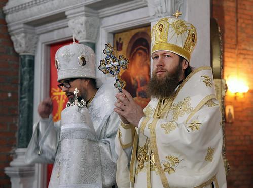Епископ Воскресенский Савва посетил храм святителя Василия Великого — Патриаршее подворье в с. Зайцево