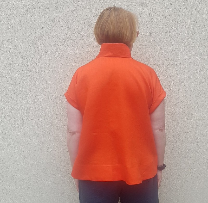 Style Arc Teddy top in orange linen
