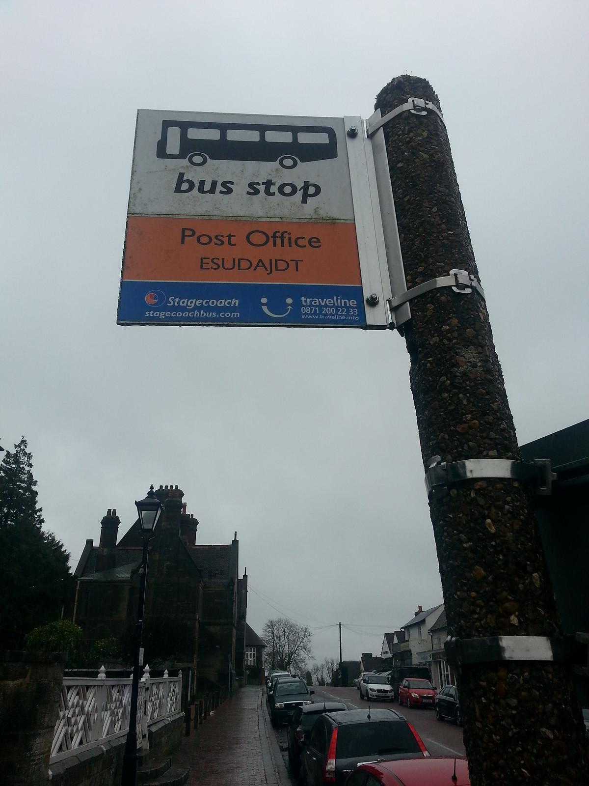 swcwalks book2 walk18 Bilingual ? Bus Stop at Mayfield