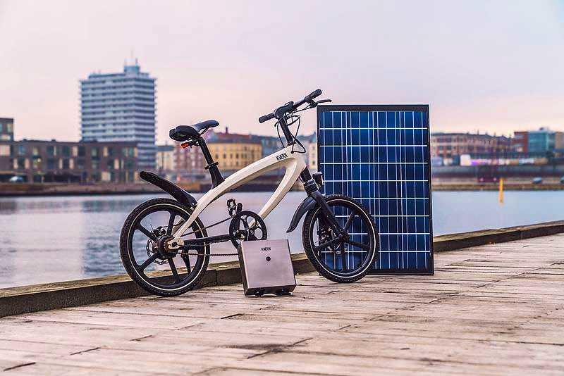 Pédalez avec la puissance du soleil sur l'ebike à l'énergie solaire de Kvaern
