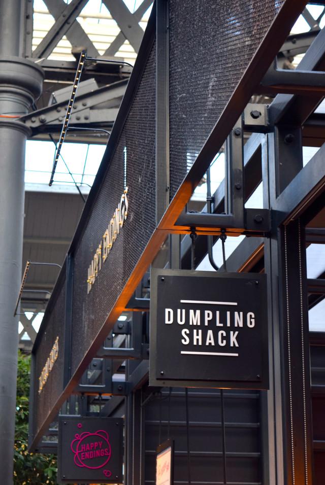 Dumpling Shack Signage at The Kitchen at Old Spitalfields Market #london #spitalfields #streetfood