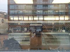 Coffee Time, closed (7) #toronto #coffeetime #wallaceemerson #dupontstreet #lansdowneave #window #reflection #closed