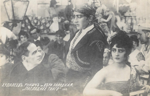 Ivan Khudoleyev, Ossip Runitsch and Vera Kholodnaya in Posledneiye tango (1918)