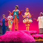 Seussical at the Arvada Center - L-R: David Miller (Who), Melissa Morris (Jojo), Barret Harper (Mr. Mayor), Alissa Robinson (Mrs. Mayor), and Susannah McLeod (Who). Matt Gale Photography 2018