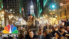 Eagles Fans Flood Streets In Philly For Super Bowl Celebration | NBC News