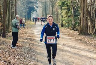 Gisela kurz vor dem Ziel Königsforst-Marathon (3:44 Std.)