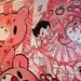 """Hello Battle, Kitty Royale"", mixed-media, #acrylic on #canvas. #Art by smilin' #SeanDanconia"
