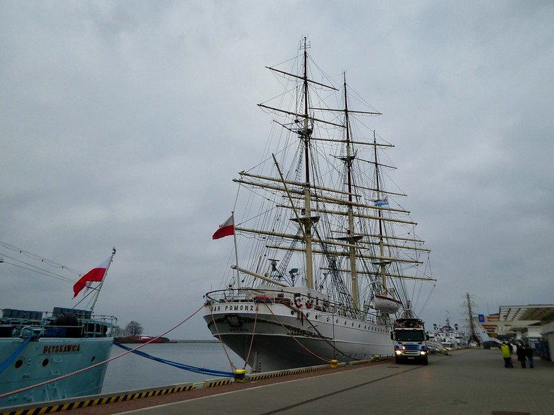 Tall Ships moored in Gdynia