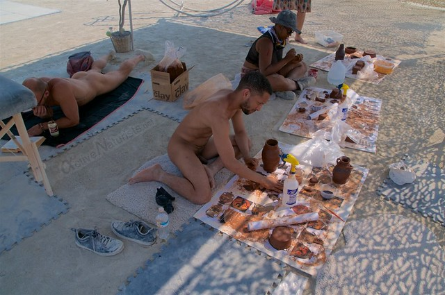 naturist camp Gymnasium 0013 Burning Man, Black Rock City, NV, USA