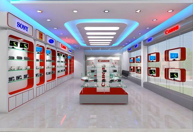 Thiết kế phòng trưng bày bằng vật liệu Mica