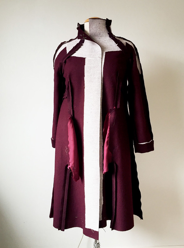 H coat inside interfacing front full length