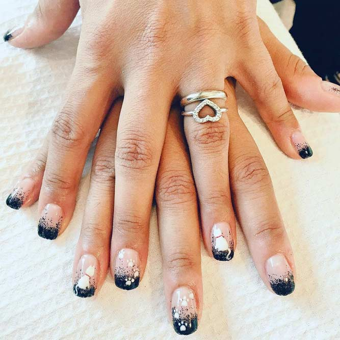 25 white and black nail designs with tips nails c white and black nail designs prinsesfo Gallery