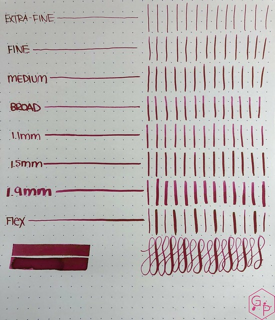 Ink Shot Review @LAMY Vibrant Pink 2018 Ink @laywines 5